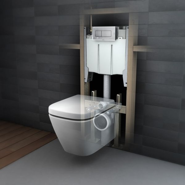 Hidden Wall Hung Toilet Wall Mounted Toilet Toilet Decoration