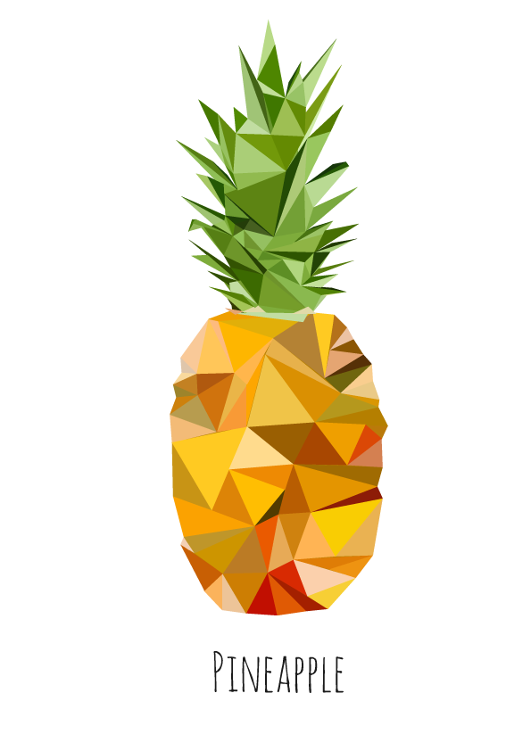 Low Poly Pineapple I Created In Illustrator Nanas