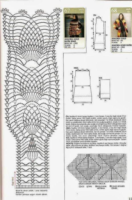 Poncho abertura en una manga Patron - Patrones Crochet | Crochet ...