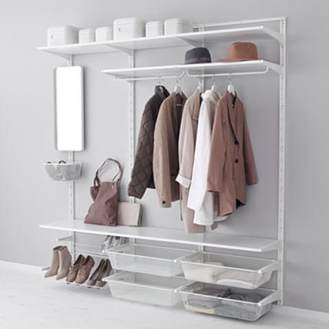 ikea hyllsystem garderob