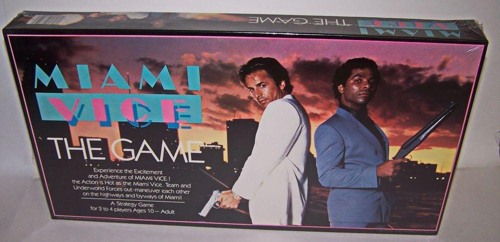 Miami Vice TV Show Board Game Don Johnson 1984 High Grade Sealed NIB