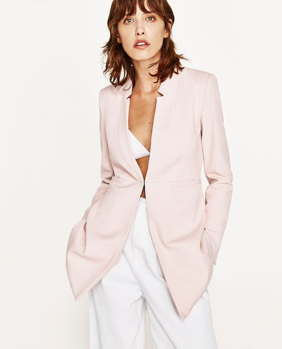 825915b21f Image 2 of INVERTED LAPEL FROCK COAT from Zara