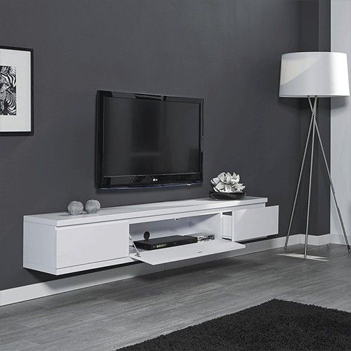 tv meubel wit zwevend tv kastje pinterest tv tv kast en