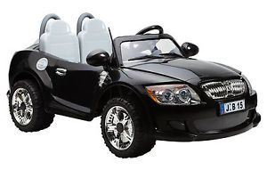 Kids 2 Seater 12v Ride On Electric Rechargeable Battery Black Bmw