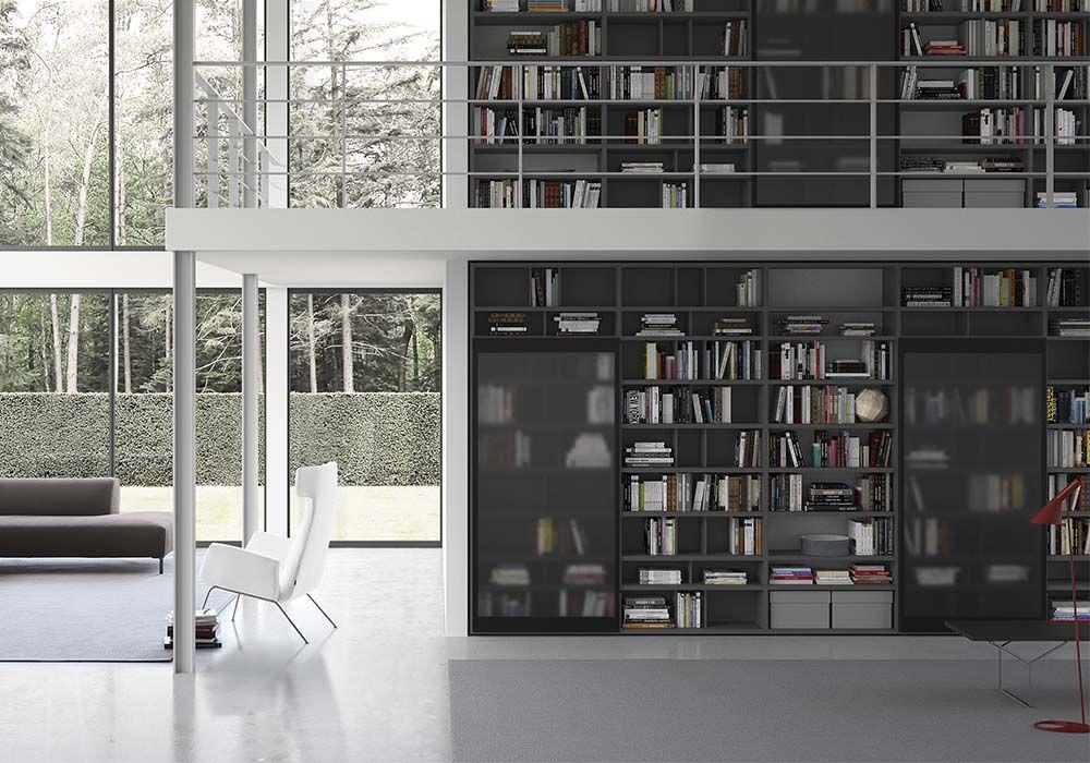 Pianca Mobili ~ Poltrona bianca dora libreria componibile moduli pianca spazioteca