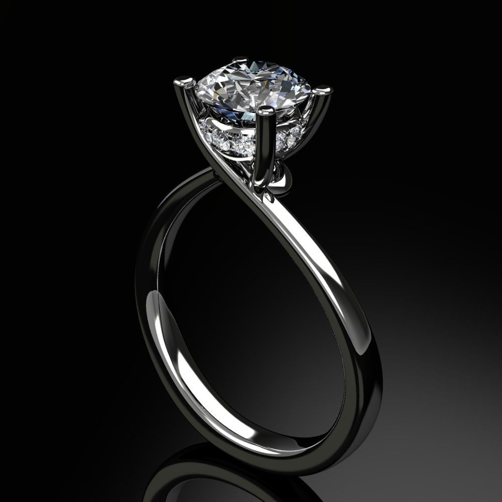 Custom made diamond engagement ring gorg pinterest engagements
