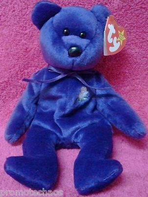 b3b3e5a4153 BEANIE BABY RARE PRINCESS DIANA w PE PELLETS! Purple 1997 HandMade China Ty  bear