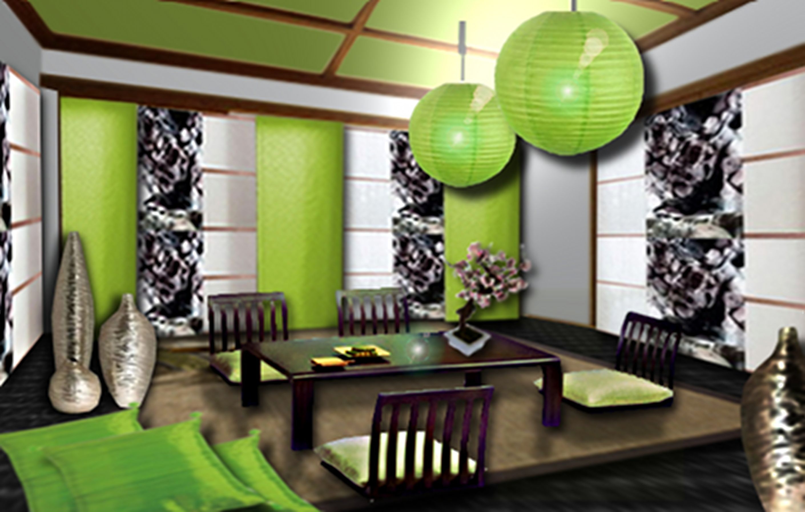 Decoration Salon Zen Photo japanese trendy decoration | decoration ideas | decor, green