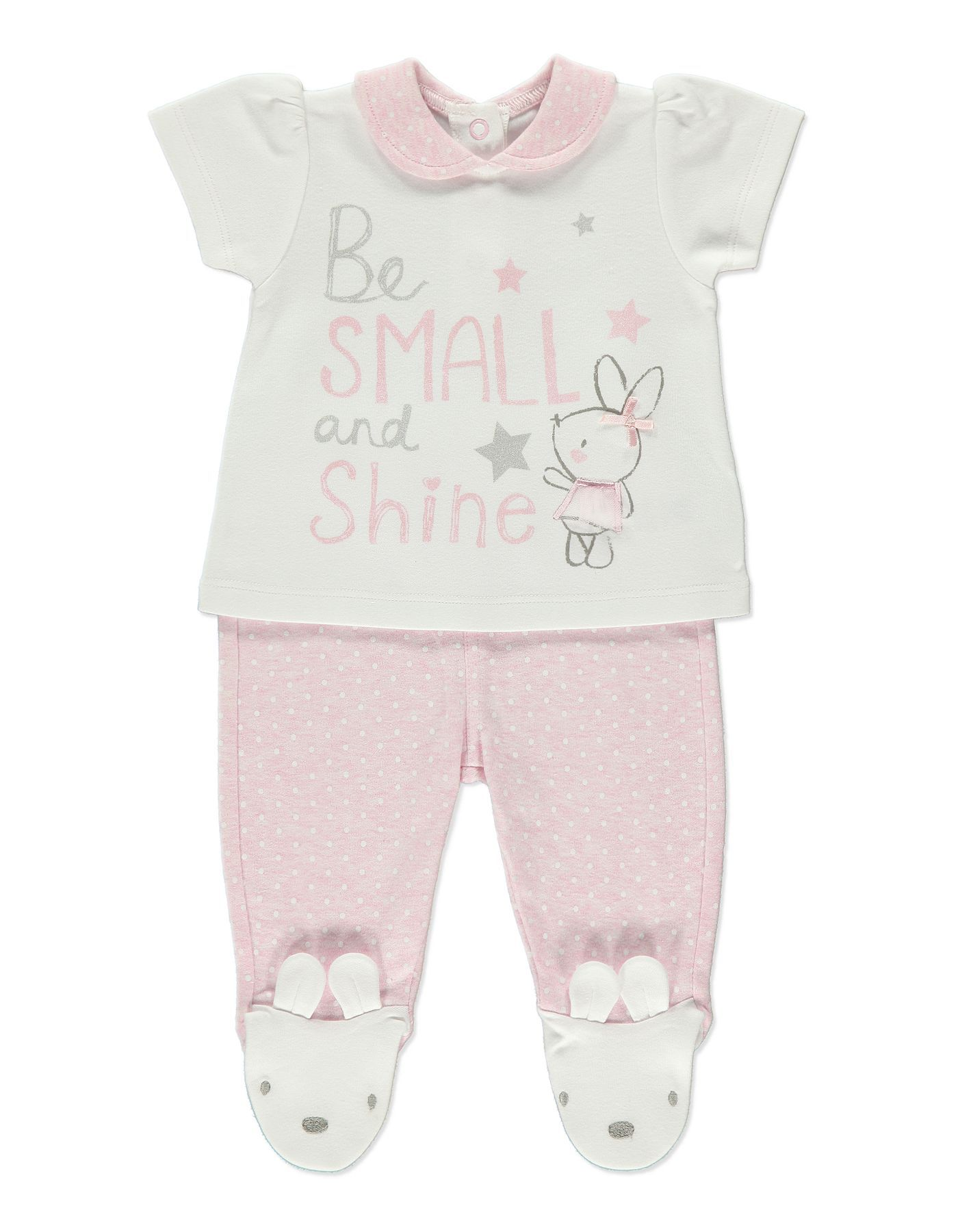 18c9b31f211 Be Small and Shine Millie T-shirt and Trousers Set | Baby | George at ASDA