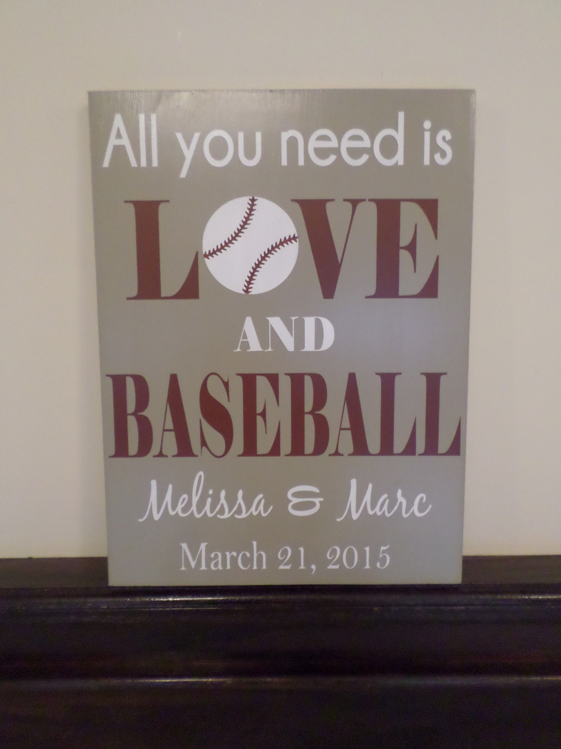 Love Baseball Wedding Sign