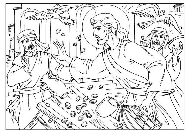 Image Result For Jesus Cleanses The Temple Coloring Page Bible