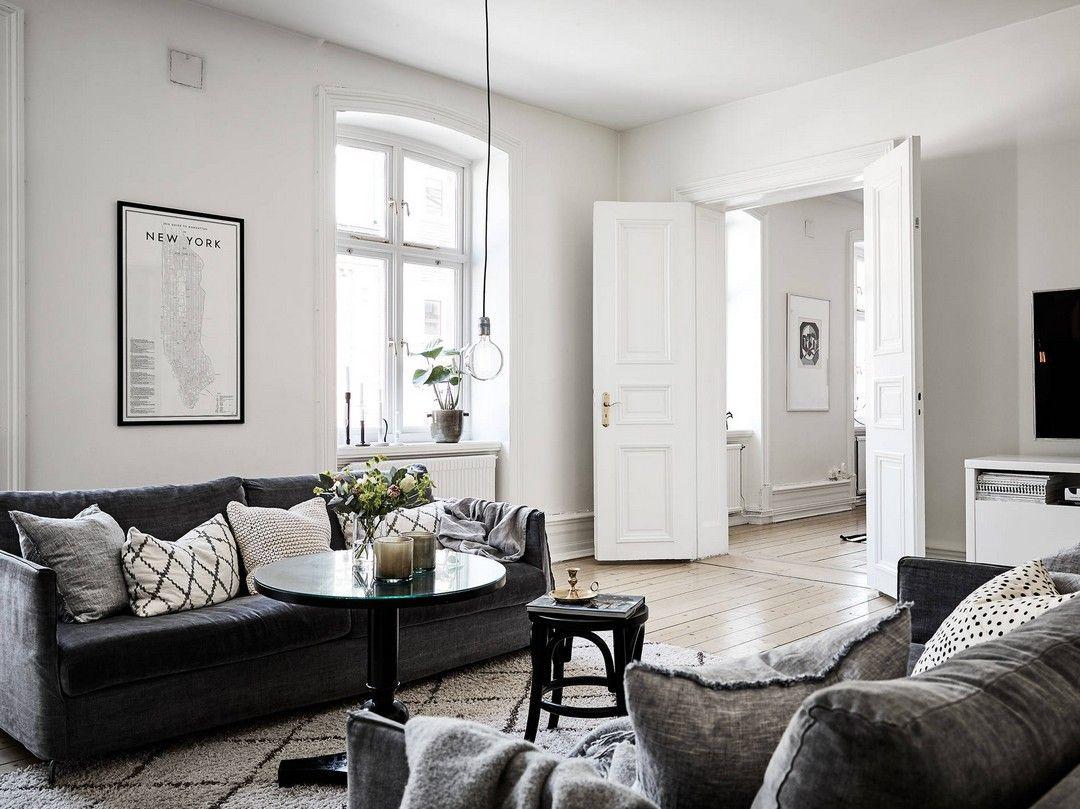 LE CHANT DU NOIR ET BLANC | Dark furniture, Living room inspiration ...
