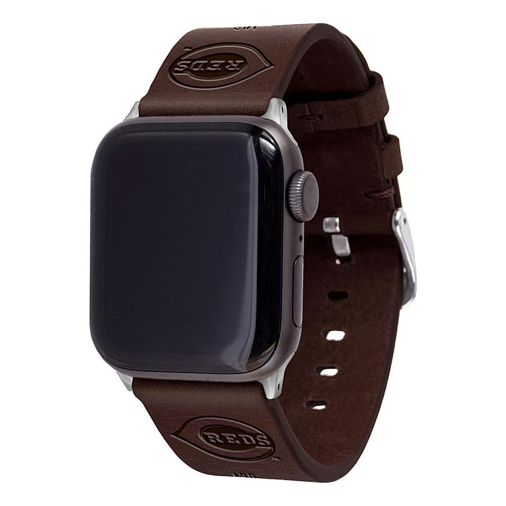 Officially Licensed Mlb Apple Watch Leather Band 42 44mm Cincinnati 20032562 Hsn In 2021 Apple Watch Bands Leather Apple Watch Watch Bands