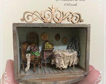 1 48 roombox victoriana con muebles y accesorios de beb for Accesorios habitacion bebe