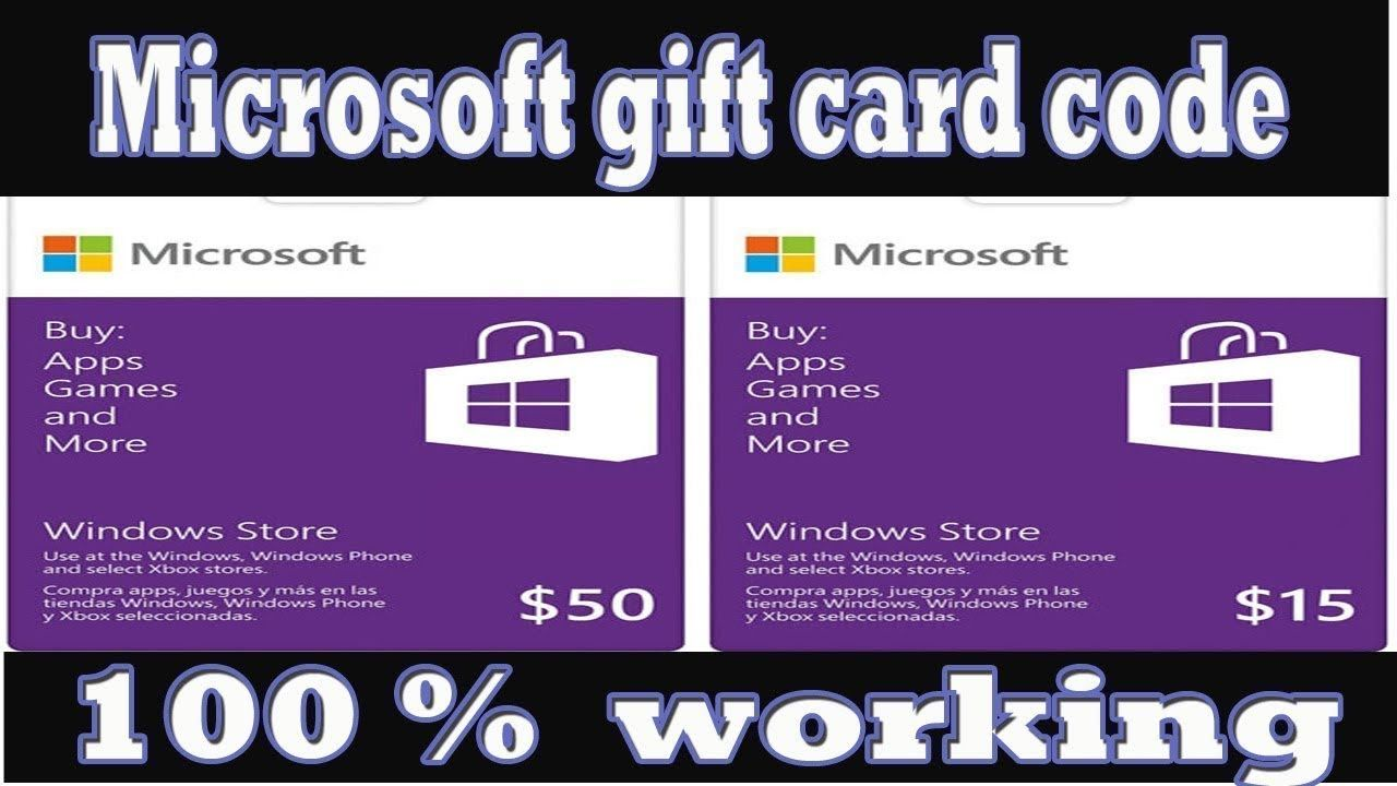 microsoft gift card codes