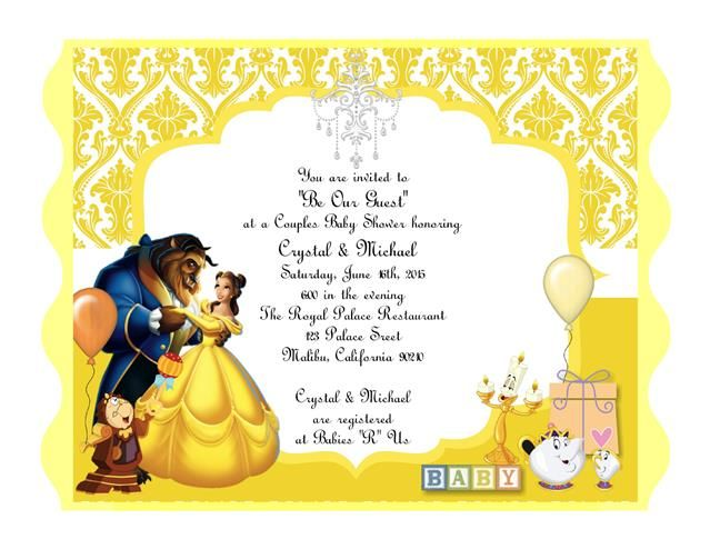 Beauty And The Beast Mage Result For Cherylsinvitations Shower Invitations