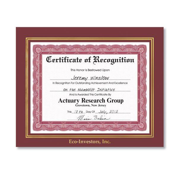 family award frame | Imprinted Award Certificate Frames ...