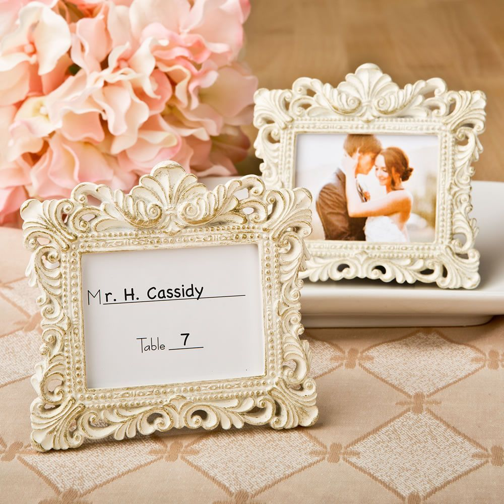 Photo of Vintage Baroque Design Place Card Holder/Picture Frame