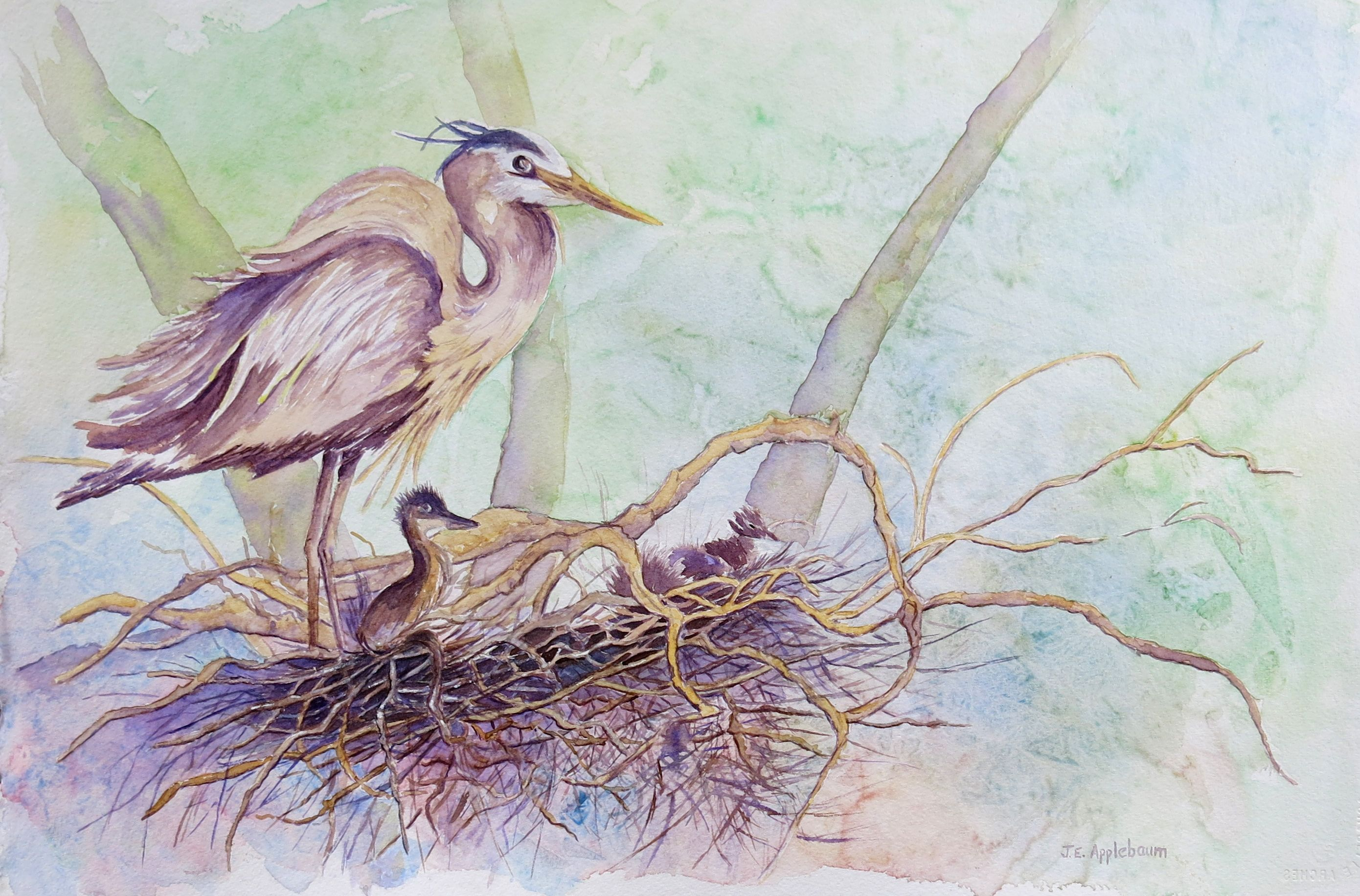"""""""Keeping a Lookout"""" watercolor"""