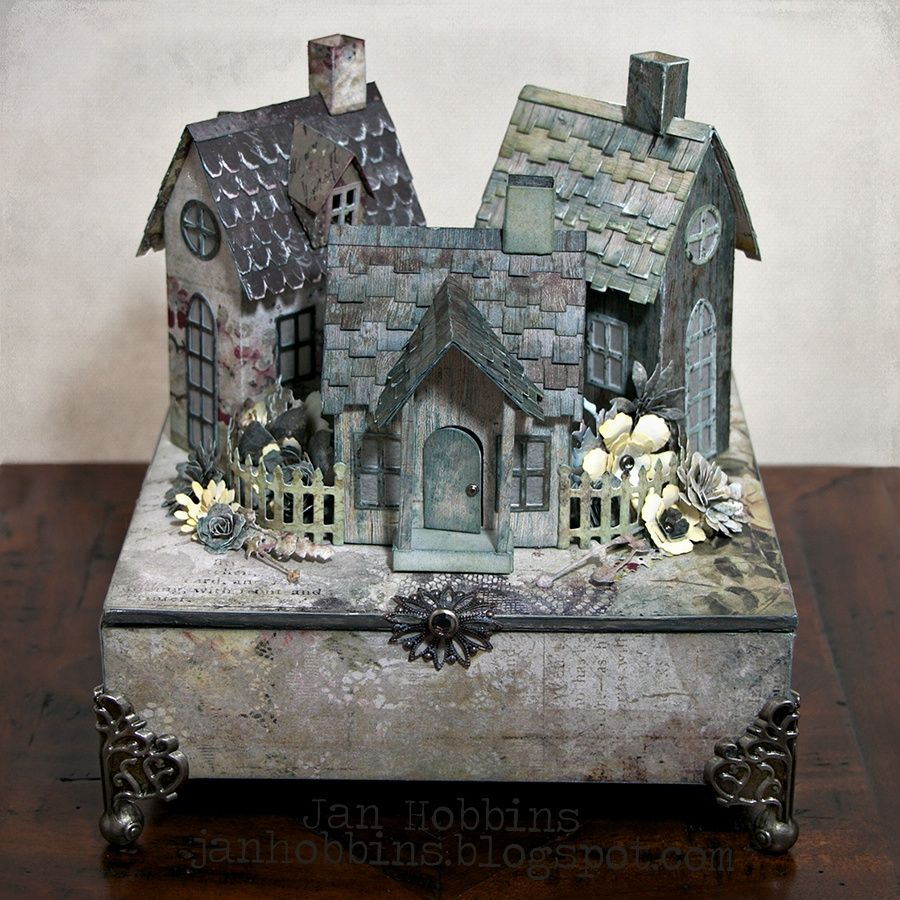 In My Own Imagination: Village on a Box | Halloween | Pinterest ...
