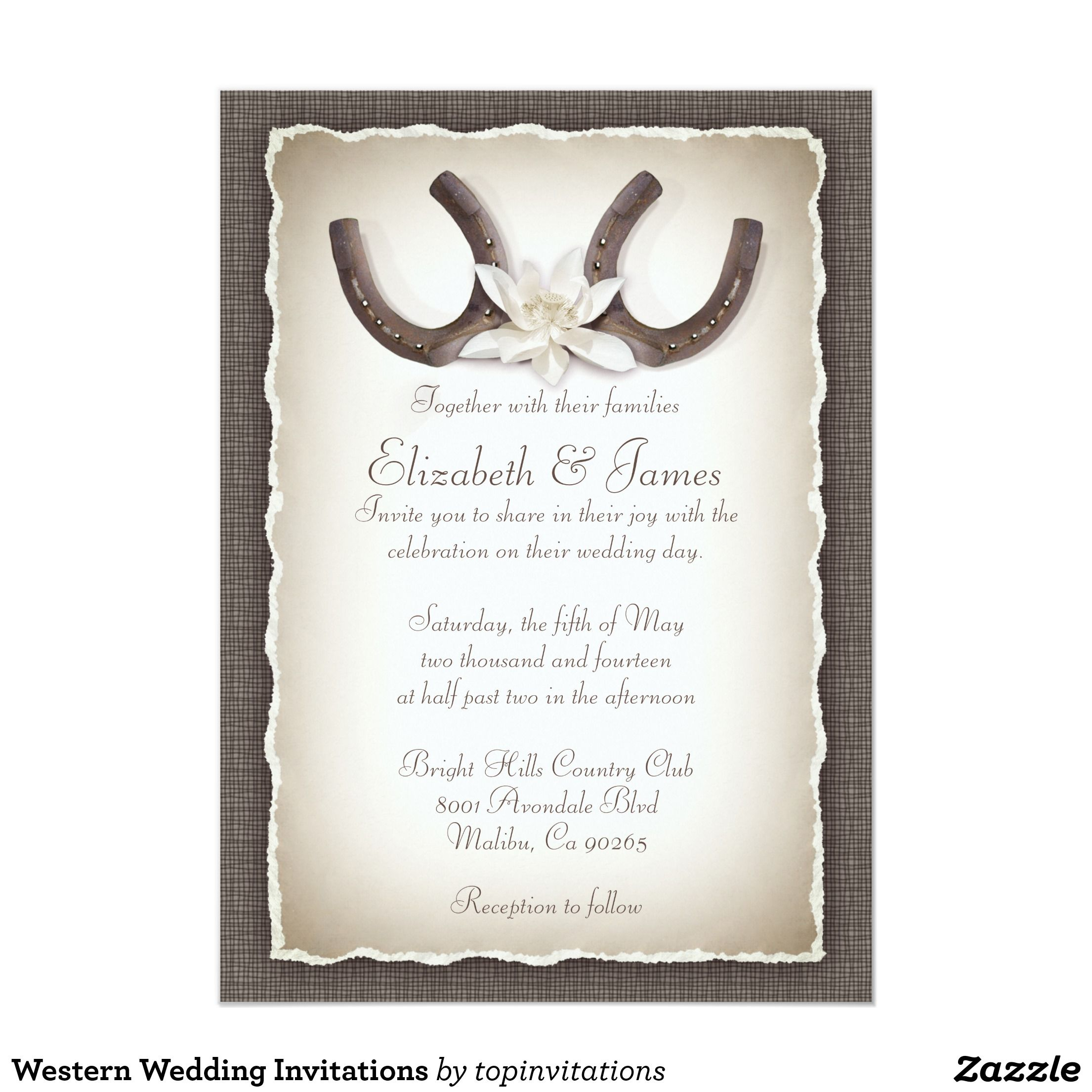 Western Wedding Invitations | Menas Quince | Pinterest | Zazzle ...