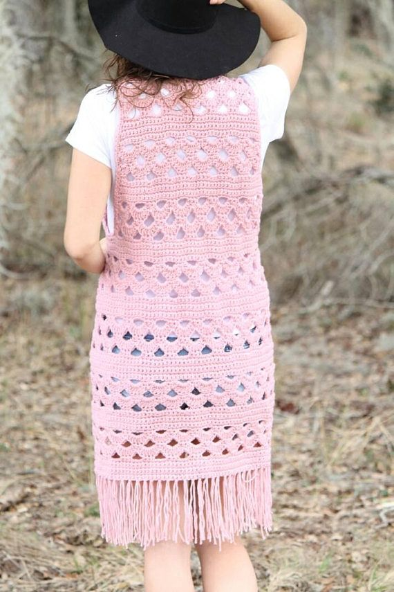 Pattern The Wanderer Vest Crochet Pattern Boho Vest Hippie