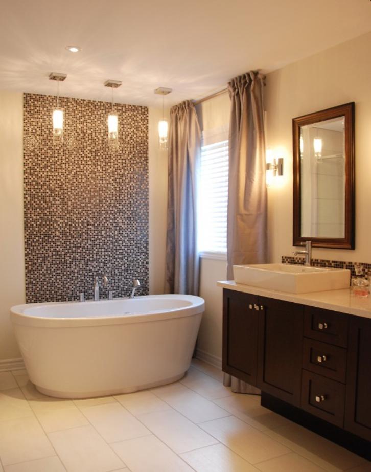 tile behind freestanding tub in 2019 | Home, Bathroom ... on corner tub bathroom design, copper tub bathroom design, garden tub bathroom design, shower bathroom design, cottage bathroom design, claw tub bathroom design, walk in tubs bathroom design, rectangular tub bathroom design, clawfoot tub bathroom design,