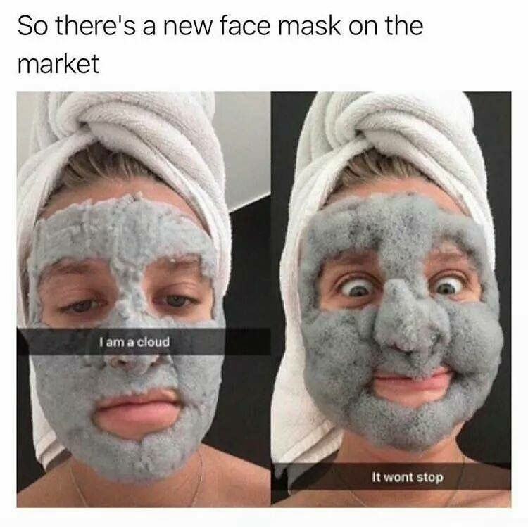 Foaming clay mask