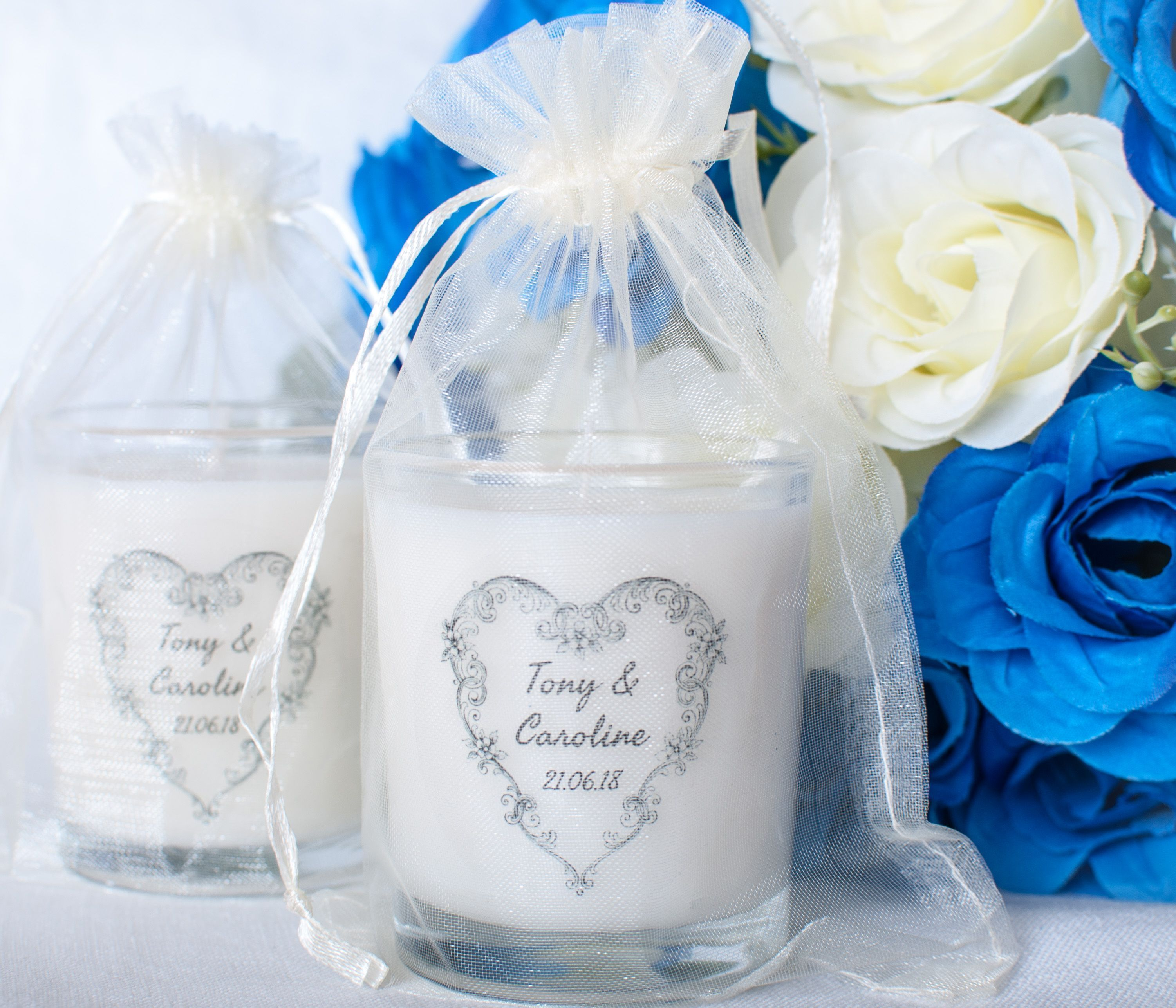 Handmade personalised scented wedding favour candles #wedding ...