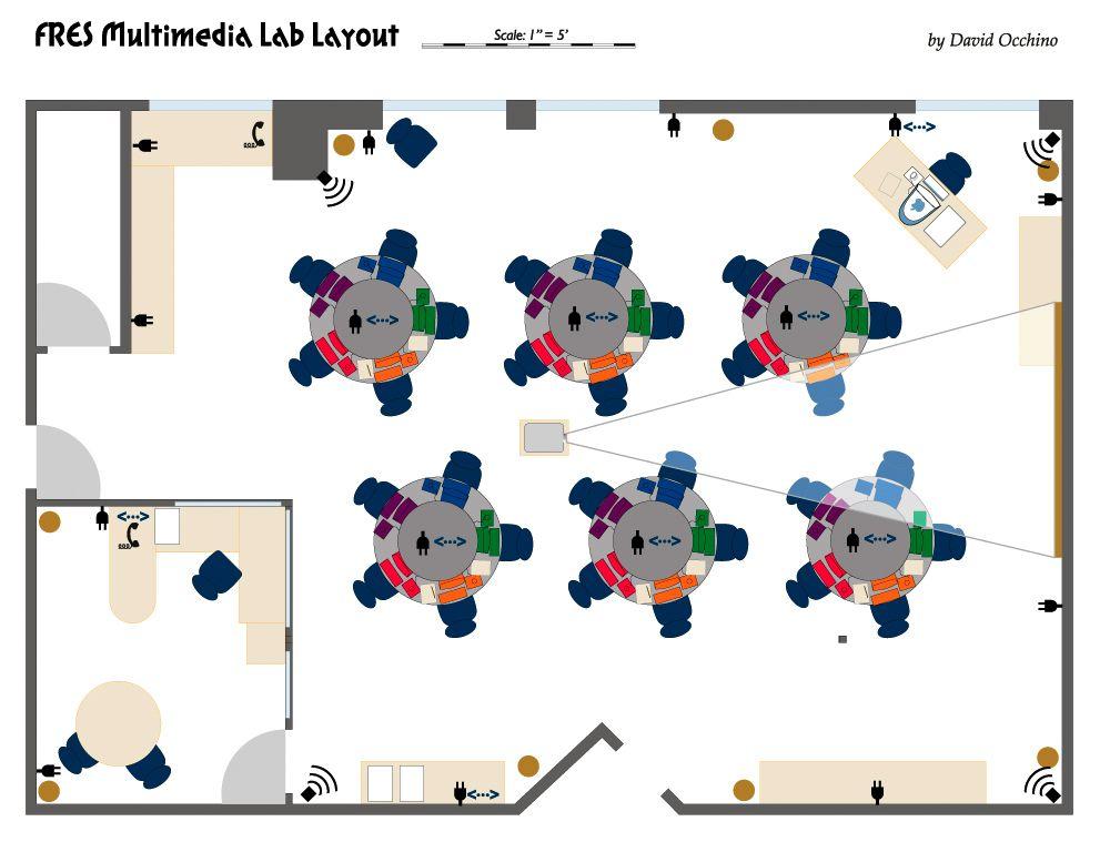 Classroom Design Cooperative Clusters ~ School computer lab design google search