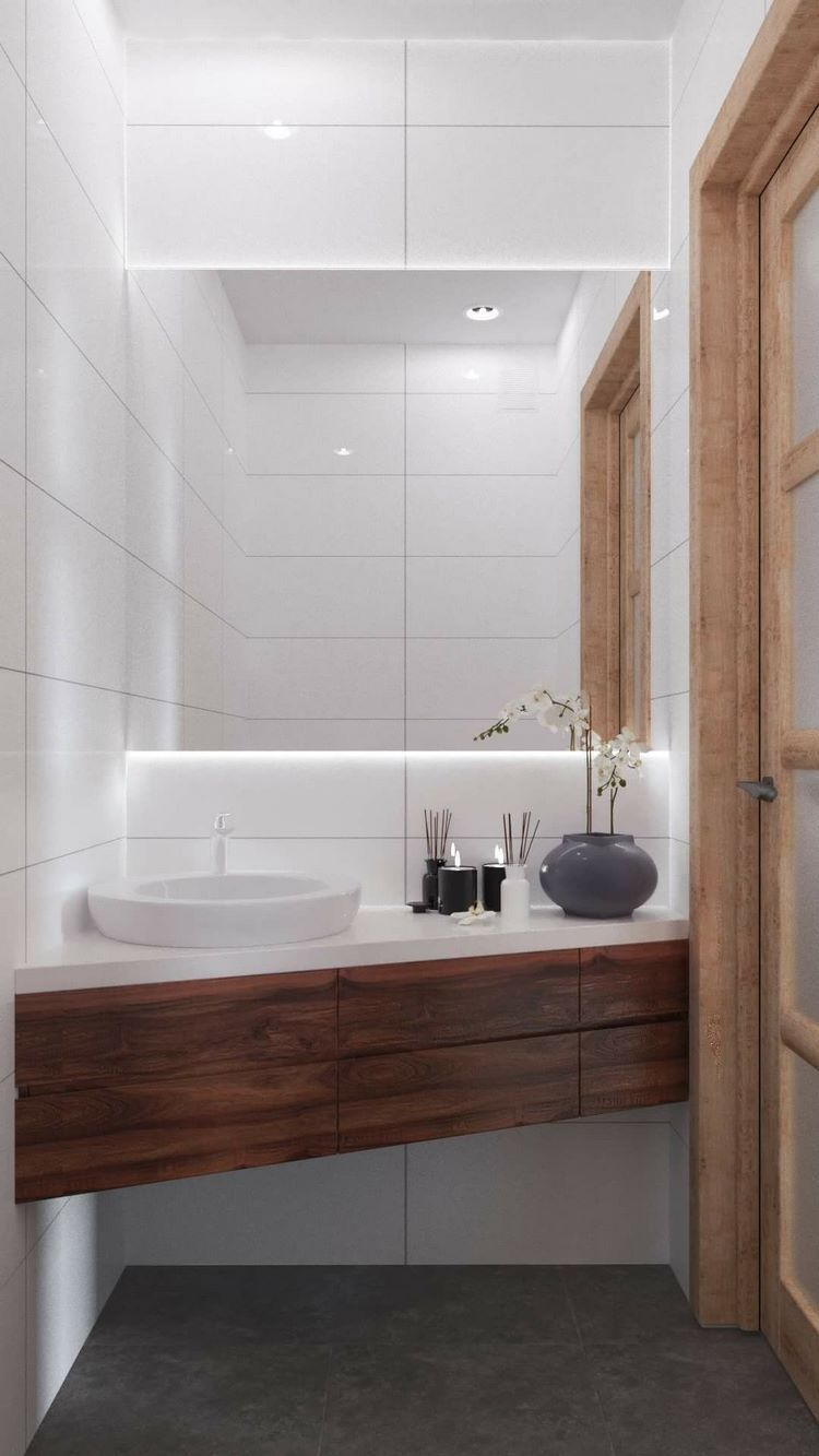 Photo of Modern guest bathroom – design ideas for practical and functional space
