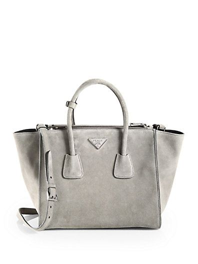 d1b6dc6e937a Prada grey suede bag- Need right now