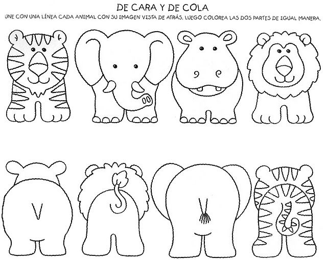 Animales | Applique zoo animals | Pinterest | Animales de la selva ...