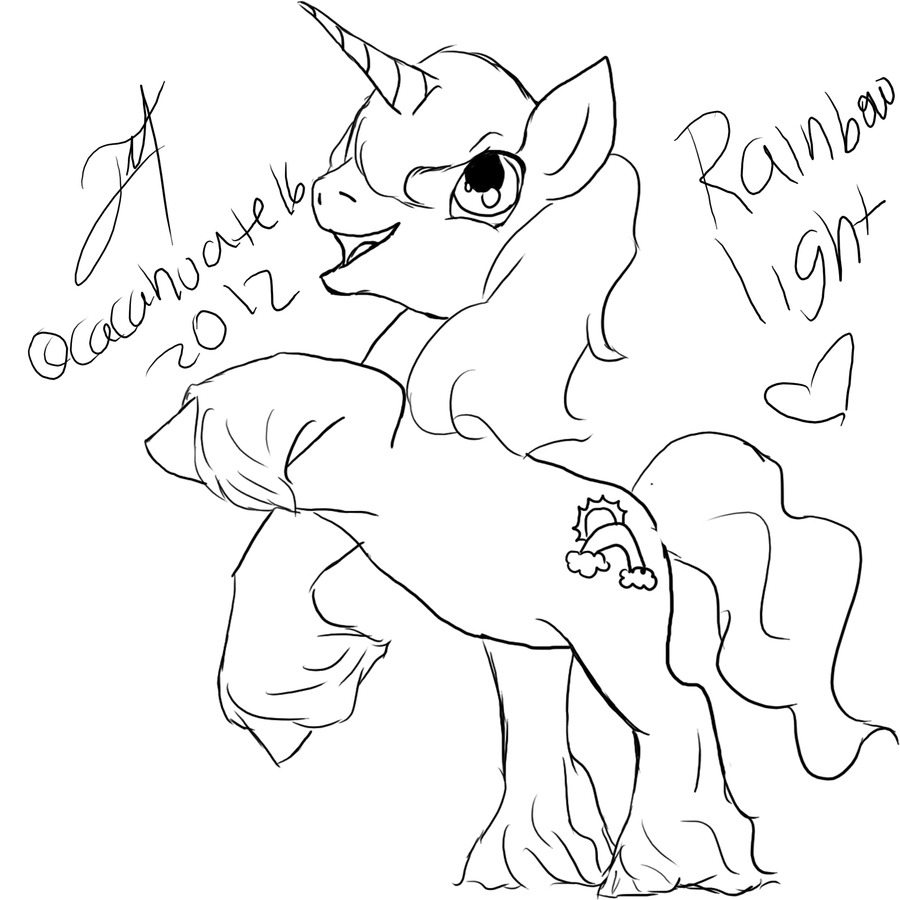 Mlp lineart by cacahuateviantart line art to color