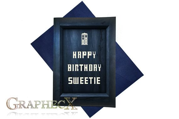 Doctor Who Tardis Inspired Personalized Card Doctor Who Tardis Tardis Birthday Cards