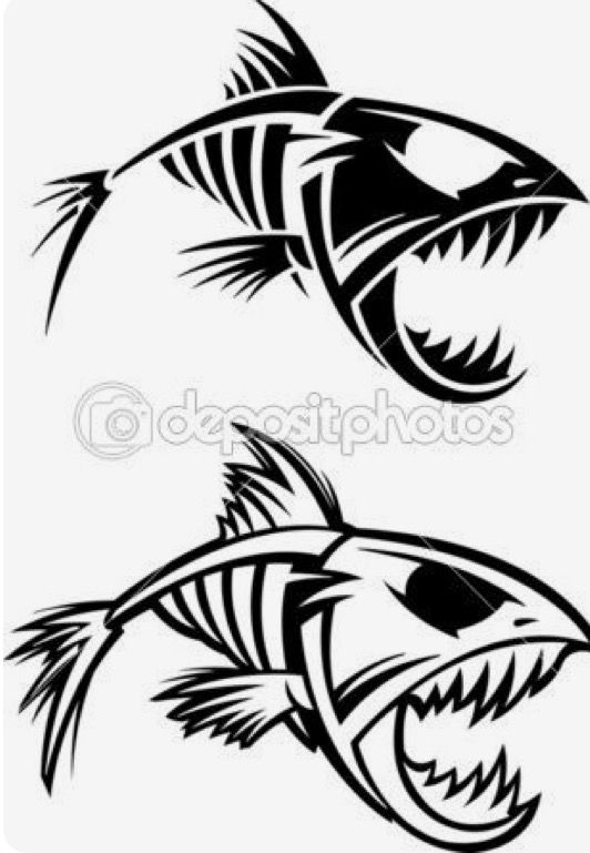 pin by diane brown on wildlife pinterest fish skeleton fish and rh pinterest com Mean Fish Skeleton Clip Art Mean Fish Skeleton Clip Art
