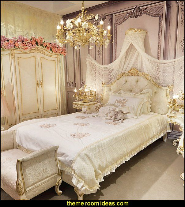 European Style Kids Bedroom Set Kid Solid Wood Decorative Furniture - Girls-bedroom-furniture-style