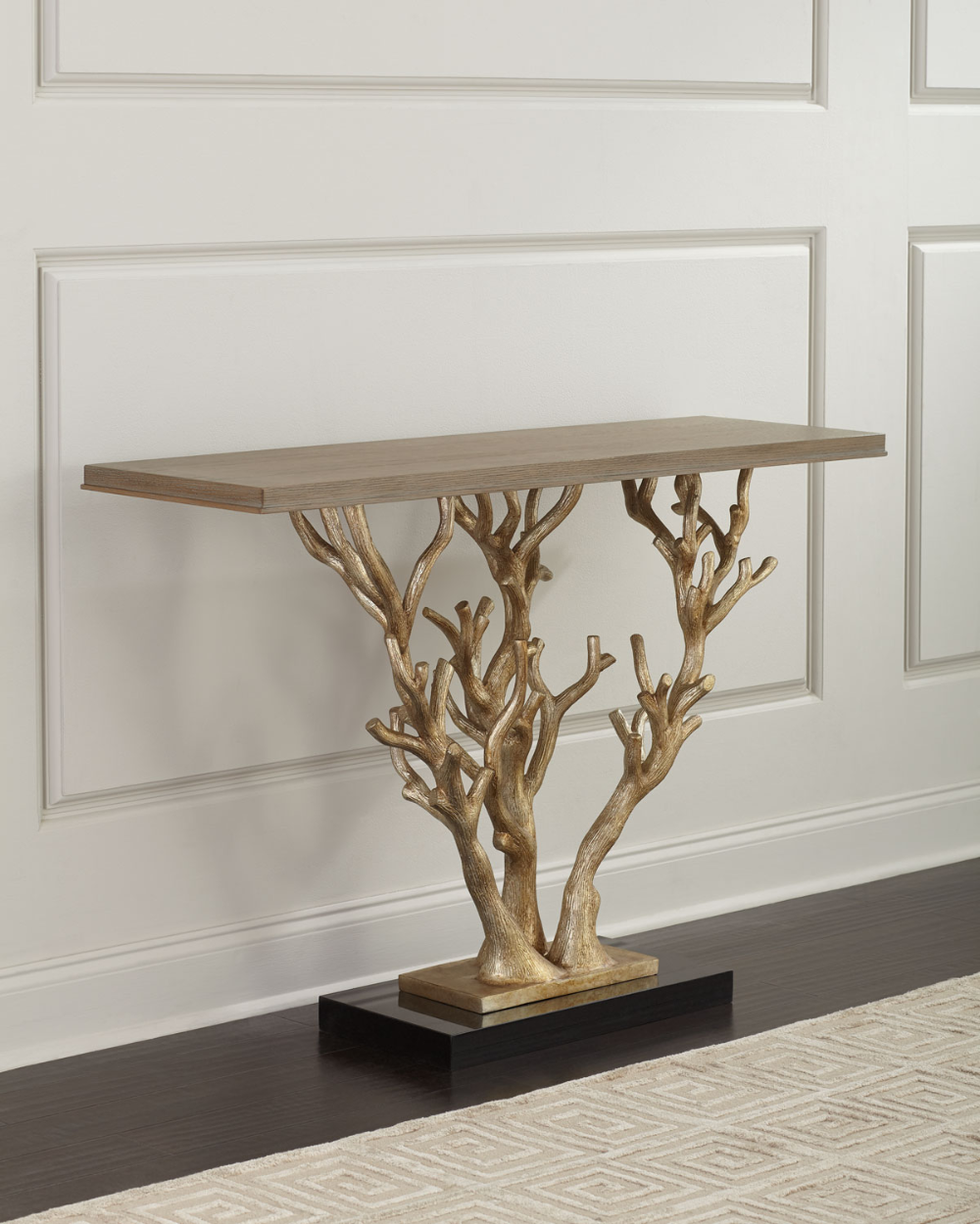 Ambella Woodland Ornate Console Table With Images Modern