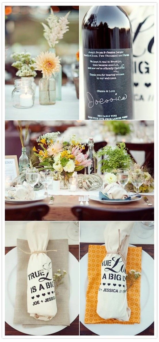 wedding wine bottles