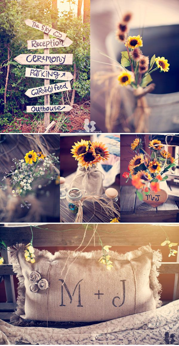 Sunflower Wedding.  Photos: Three Nails Photography