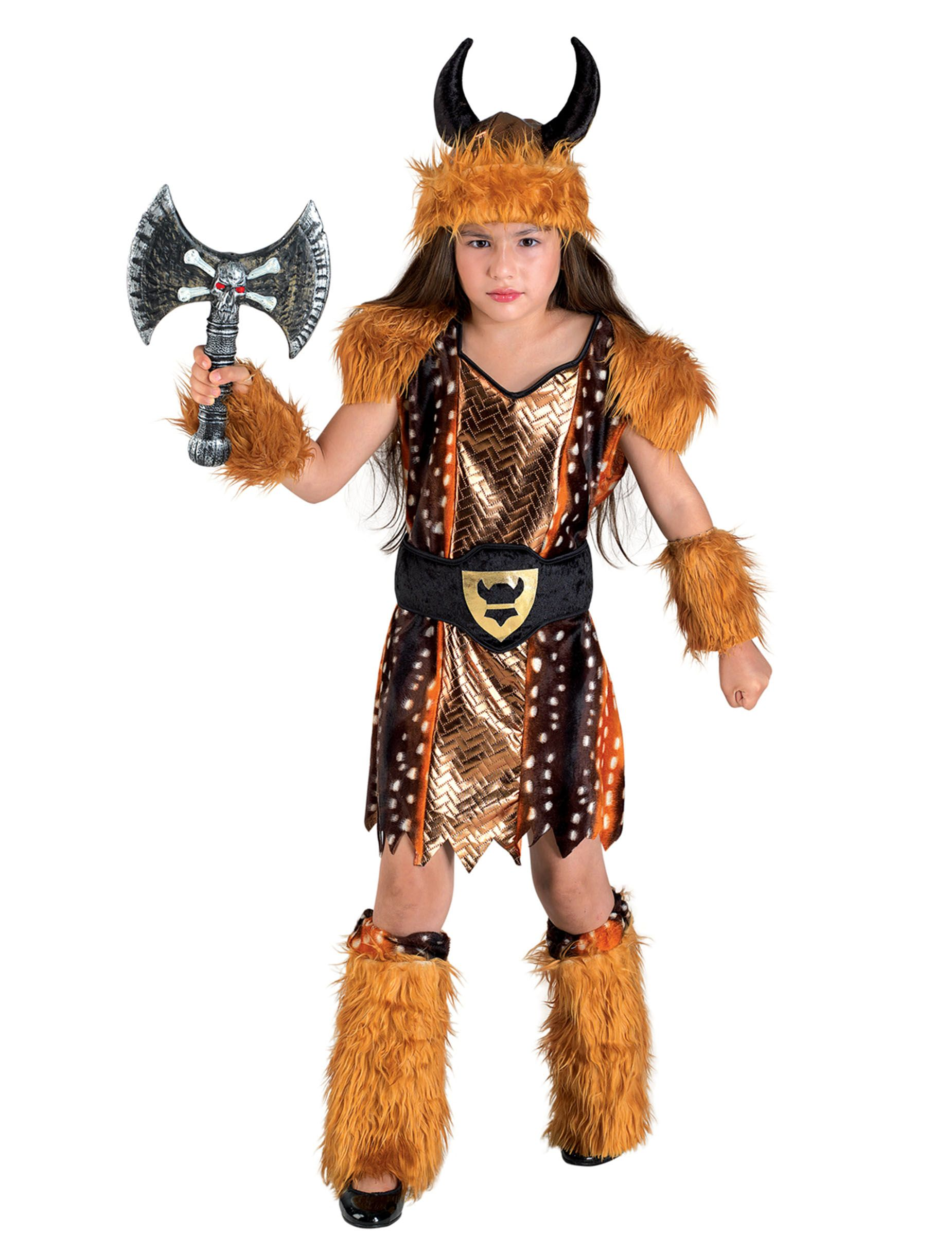 Disfraz vikingo niña  Este disfraz de vikinga para niña incluye vestido 6882effabb02