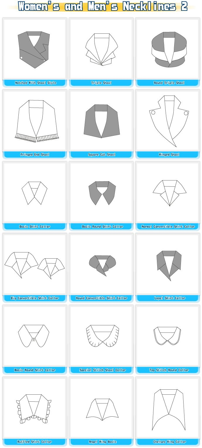 Different Types Of Necklines And Collars