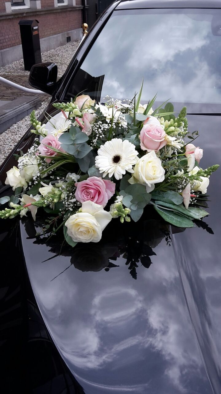 Wedding decorations for car  wedding car flowers  Fleurts  display  Pinterest  Wedding cars
