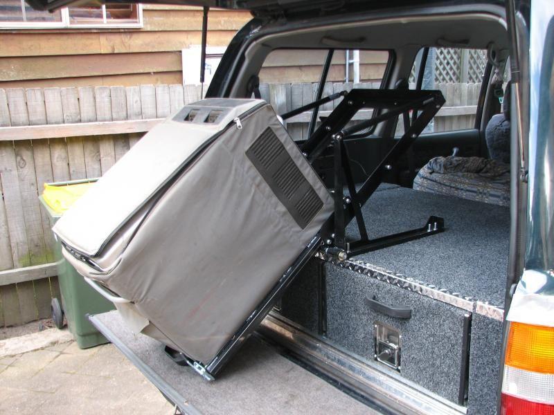 Tilt Fridge Slide And Rear Drawers Truck Bed Camper Overland Gear Expedition Trailer