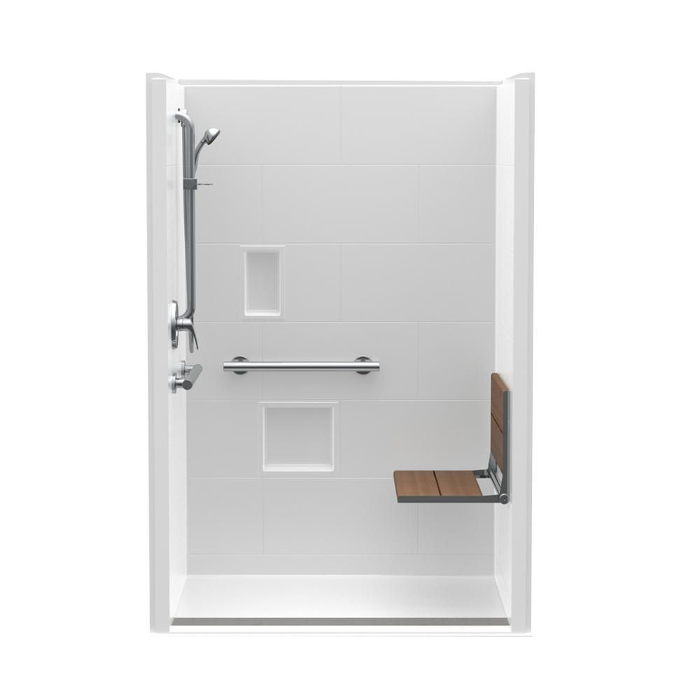 Aquatic Trench Drain 48 In X 36 In X 76 3 4 In Shower Stall