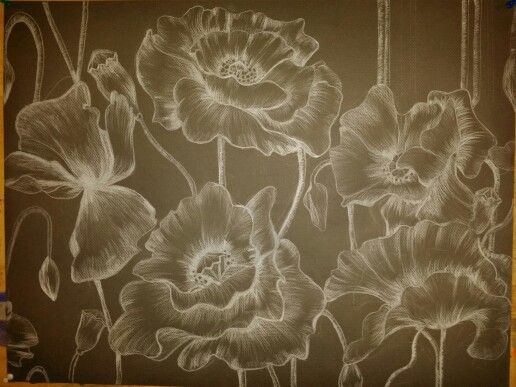 Drawing work On black canson