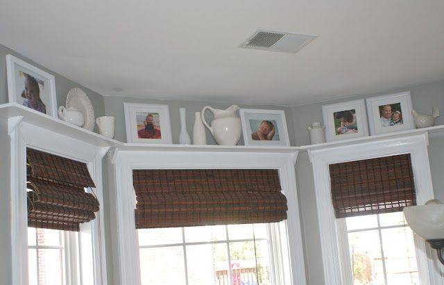 Crown Molding Around Bay Windows Woodenblindsvertical Home Small Basement Remodel Living Room Blinds