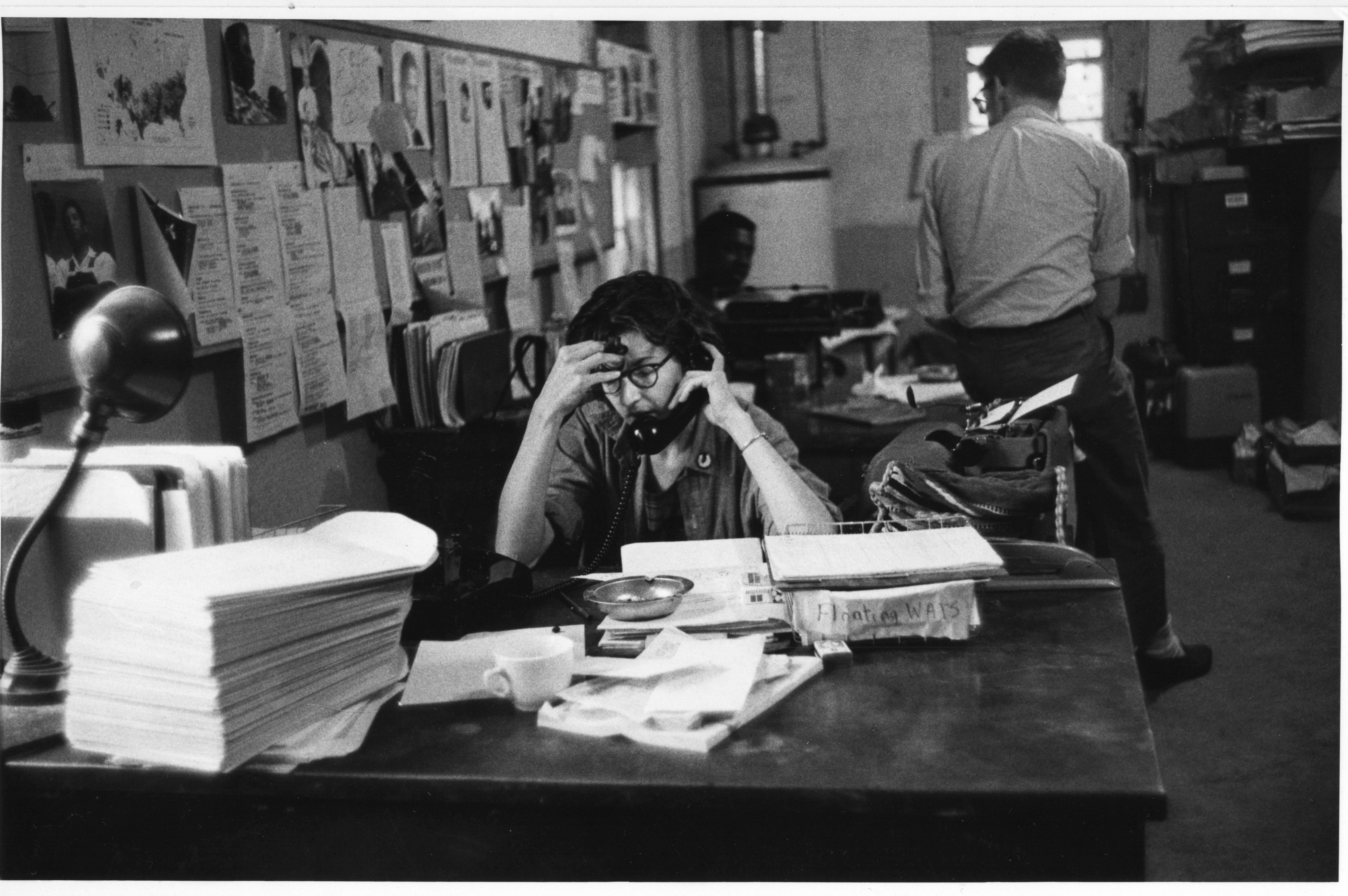 Betty-Garman-in-Mississippi-office-1964-photo-