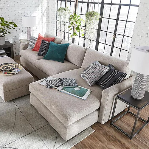 Bassett Living Collections Sectional Couch Set Bassett Furniture