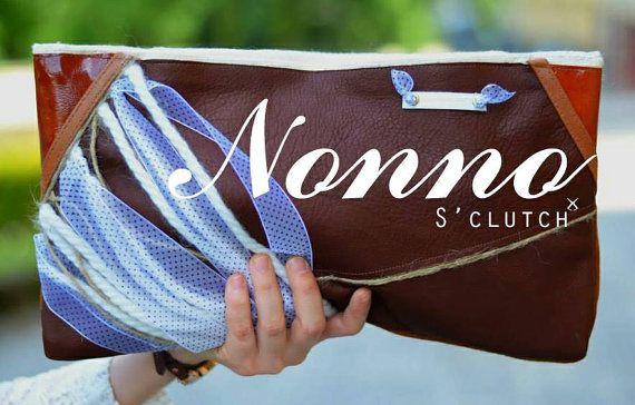 Bolso de diseño exclusivo realizado en piel auténtica. por Sclutch